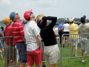 All eyes looked up when the performers flew overhead at the Vero Beach Air Show.