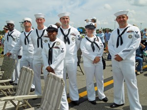 US Navy sailors enjoyed watching the show.