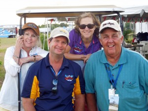 Jan J Binney, President Todd Howder, Laurie Connelly, and Producer/Director Rick Grissom after the Vero Beach Air Show.