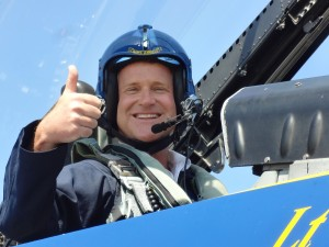 Blue Angels Show Narrator Lt. Ryan Chamberlain took WPTV NewsChannel 5's Chief Meteorologist Steve Weagle on the exciting Media Ride in his F/A-18 jet.